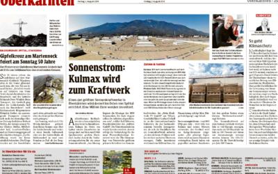 Kleine Zeitung berichtet über Sonnenkraftwerk KULMAX